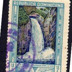 Sellos: AMÉRICA. R. DOMINICANA. PAISAJE. CASCADA YTPA69. USADO SIN CHARNELA. Lote 254631040