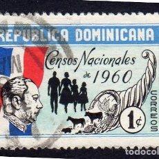 Sellos: AMÉRICA. R. DOMINICANA. CENSO NACIONAL DE 1960 YT519. USADO SIN CHARNELA. Lote 254631525