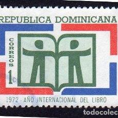 Sellos: AMÉRICA. R. DOMINICANA. 1972 AÑO INTERNACIONAL DEL LIBRO: YT707. USADO SIN CHARNELA. Lote 254633110