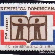 Sellos: AMÉRICA. R. DOMINICANA. 1972 AÑO INTERNACIONAL DEL LIBRO: YT708. USADO SIN CHARNELA. Lote 254633270