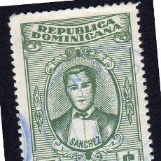 Sellos: AMÉRICA. R. DOMINICANA. SANCHEZ: YT594. USADO SIN CHARNELA. Lote 254652465