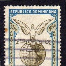 Sellos: AMÉRICA. R. DOMINICANA. 75 ANIVERSARIO U:P.U: YT408. USADO SIN CHARNELA. Lote 254653070