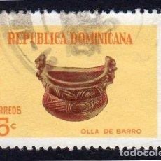 Sellos: AMÉRICA. R. DOMINICANA. ARTE TAINO. OLLA DE BARRO: YT674. USADO SIN CHARNELA. Lote 254653295