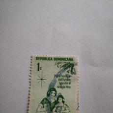 Sellos: SELLO REPUBLICA DOMINICANA 1C PROTECCIÓN A LA INFANCIA. Lote 262967280