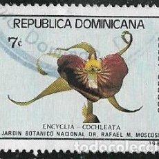 Francobolli: REPÚBLICA DOMINICANA AÉREO YVERT 394, FLORA. Lote 264128160