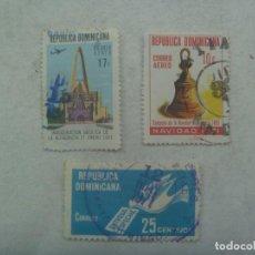 Sellos: LOTE DE 3 SELLOS DE LA REPUBLICA DOMINICANA. Lote 267311864