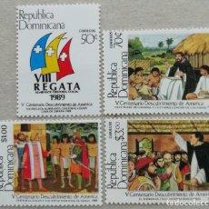 Sellos: 1989. REP. DOMINICANA. 1063 / 1066. 500 ANIV. DEL DESCUBRIMIENTO DE AMÉRICA. SERIE COMPLETA. NUEVO.. Lote 274431163