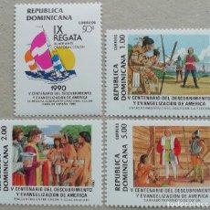 Sellos: 1990. REP. DOMINICANA. 1063 / 1067. 500 ANIV. DESCUBRIMIENTO DE AMÉRICA. SERIE COMPLETA. NUEVO.. Lote 275158533