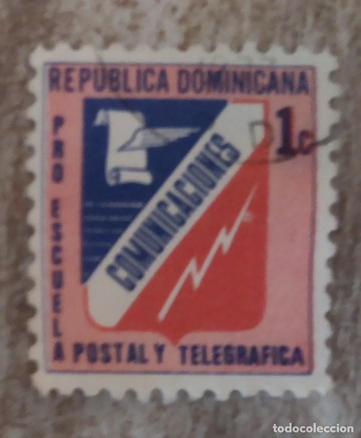 SELLO USADO R. DOMINICANA.. COMUNICACIONES (Sellos - Extranjero - América - República Dominicana)