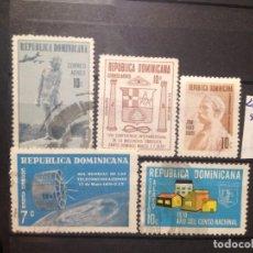 Sellos: SELLOS DE REPUBLICA DOMINICANA. USADOS. CORREO AEREO. YVERT Nº 213/7. Lote 284431173