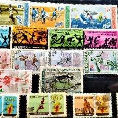 Sellos: 20 SELLOS REPÚBLICA DOMINICANA . TEMÁTICA DEPORTES . FOTO.. Lote 285619098