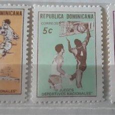 Sellos: REPUBLICA DOMINICANA,1971,CAT.YT.698/699 Y PA. 225. Lote 286774083