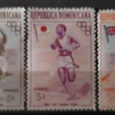 Sellos: REPUBLICA DOMINICANA, 1957, CAT.YT.444/448.. Lote 286781333