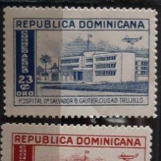 Sellos: REPUBLICA DOMINICANA, 1952, CAT.YT. PA. 83/84.. Lote 286782248