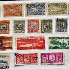 Sellos: 18 SELLOS ANTIGUOS . REPÚBLICA DOMINICANA.. Lote 287241098