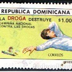 Sellos: REPUBLICA DOMINICANA // YVERT 1055 E // 1989 ... USADO. Lote 287751753