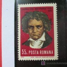 Sellos: RUMANIA 1970 IVERT 2577 *** BICENTENARIO NACIMIENTO MUSICO Y COMPOSITOR LUWIG VAN BEETHOVEN . Lote 8651866