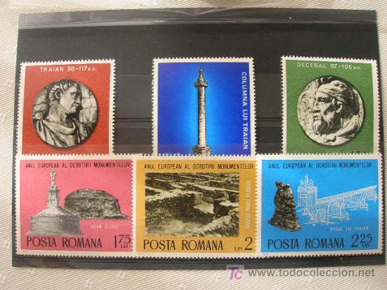 RUMANIA 1975 IVERT 2901/6 *** AÑO EUROPEO PROTECCIÓN MONUMENTOS (Sellos - Extranjero - Europa - Rumanía)