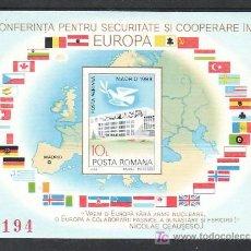Sellos: RUMANIA HB 161A SIN CHARNELA, CONFERENCIA SOBRE LA SEGURIDAD Y LA COOPERACION DE EUROPA EN MADRID,. Lote 11875475