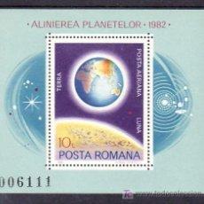 Sellos: RUMANIA HB 151 SIN CHARNELA, COSMOS, TIERRA Y LUNA, . Lote 9107125