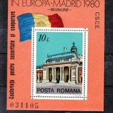 Sellos: RUMANIA HB 146 SIN CHARNELA, CONFERENCIA SOBRE SEGURIDAD Y COOPERACION DE EUROPA EN MADRID, . Lote 9107205