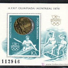 Sellos: RUMANIA HB 127 SIN CHARNELA, DEPORTE, KAYAK, MEDALLAS EN LOS XXI JUEGOS OLIMPICOS DE MONTREAL, . Lote 11417421