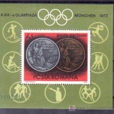 Sellos: RUMANIA HB 101 SIN CHARNELA, DEPORTE, MEDALLAS DE LOS JUEGOS OLIMPICOS DE MUNICH, . Lote 11797914