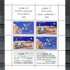 Sellos: RUMANIA HB 84 SIN CHARNELA, ESPACIO, SATELITE APOLO 16 Y APOLO 17, . Lote 11903636