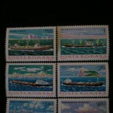 Francobolli: RUMANIA 1979 IVERT 3191/6 *** BARCOS DE LA MARINA MERCANTE. Lote 9239112