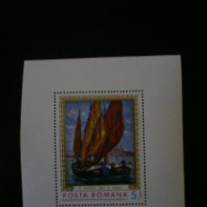 Sellos: RUMANIA 1971 HB IVERT 90 *** CUADRO MARINA - PINTURA. Lote 18157566