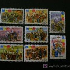 Sellos: RUMANIA 1990 IVERT 3896/3903 *** 1ER. ANIVERSARIO LEVANTAMIENTO POPULAR. Lote 17627156