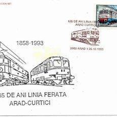 Sellos: FERROCARRIL.- RUMANIA.- MATASELLOS ESPECIAL 135 AÑOS DE LA ESTACION DE FERROCARRIL DE ARAD (RUMANIA). Lote 2503688