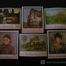 Sellos: RUMANIA 1974 IVERT 2822/7 *** PINTURA IMPRESIONISTA . Lote 10176414