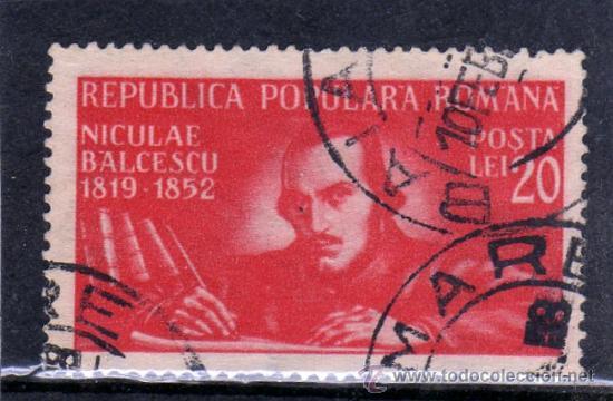 ++ RUMANIA / ROMANIA / ROUMANIE AÑO 1948 YVERT NR.1070 USADA NICOLAE BALCESCU (Sellos - Extranjero - Europa - Rumanía)
