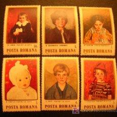 Sellos: RUMANIA 1984 IVERT 3535/40 *** PINTURAS RUMANAS - CUADROS DE NIÑOS. Lote 17270176