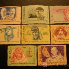 Sellos: RUMANIA 1985 IVERT 3643/50 *** DESCUBRIDORES Y AVENTUREROS MODERNOS - PERSONAJES . Lote 18157560