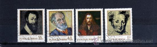 ++ RUMANIA / ROMANIA / ROUMANIE AÑO 1971 YVERT NR. 2648/51 USADA PINTURAS (Sellos - Extranjero - Europa - Rumanía)