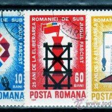 Sellos: ++ RUMANIA / ROMANIA / ROUMANIE AÑO 1969 YVERT NR.2486/88 USADA ANIVERSARIOS. Lote 12662192