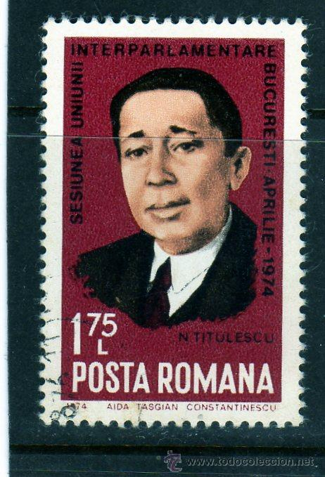 ++ RUMANIA / ROMANIA / ROUMANIE AÑO 1974 YVERT NR. 2834 USADA NICOLAE TITULESCU (Sellos - Extranjero - Europa - Rumanía)