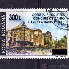 Sellos: ++ RUMANIA / ROMANIA / ROUMANIE AÑO 2001 YVERT NR. 4709 USADA OVERPRINT. Lote 13245848