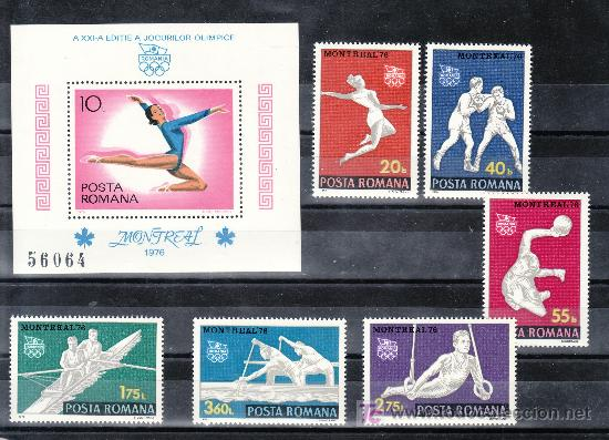 RUMANIA 2964/9, HB 126 SIN CHARNELA, DEPORTE, XXI JUEGOS OLIMPICOS DE VERANO EN MONTREAL, (Sellos - Extranjero - Europa - Rumanía)