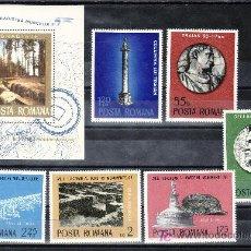 Sellos: RUMANIA 2901/6, HB 119 SIN CHARNELA, ARQUEOLOGIA, AÑO EUROPEO DE LA PROTECCION DE LOS MONUMENTOS,. Lote 17549000
