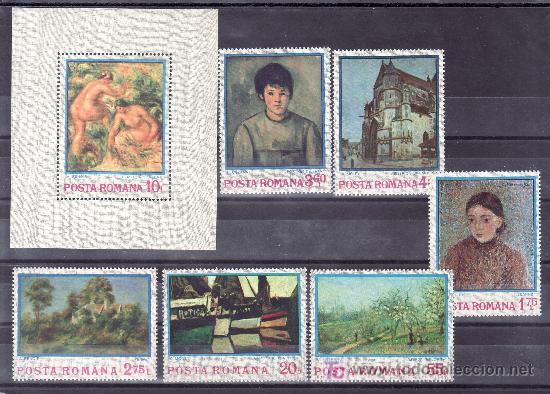 RUMANIA 2822/7, HB 111 SIN CHARNELA, PINTURA IMPRESIONISTA, (Sellos - Extranjero - Europa - Rumanía)
