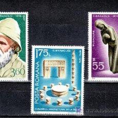 Sellos: RUMANIA 2949/51 SIN CHARNELA, ESCULTURA, CENTENARIO NACIMIENTO DEL ESCULTOR C. BRANCUSI, . Lote 13925791