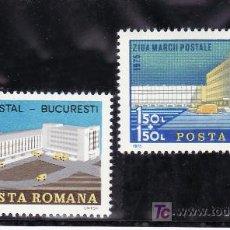 Sellos: RUMANIA 2934/5 SIN CHARNELA, DIA DEL SELLO, EDIFICIOS DE CORREOS, ARQUITECTURA, . Lote 17844797