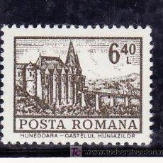 Sellos: RUMANIA 2782 SIN CHARNELA, ARQUITECTURA, CASTILLO HUNEDOARA, . Lote 13926591