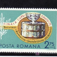 Sellos: RUMANIA 2711 SIN CHARNELA, DEPORTE, TENIS, FINAL COPA DAVIS, . Lote 13936561