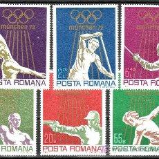 Sellos: RUMANIA 2698/703 CON CHARNELA, DEPORTE, JUEGOS OLIMPICOS DE MUNICH,. Lote 17844801