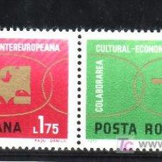 Sellos: RUMANIA 2680/1 SIN CHARNELA, COLABORACION CULTURAL Y ECONOMICA INTEREUROPEA. Lote 17844803