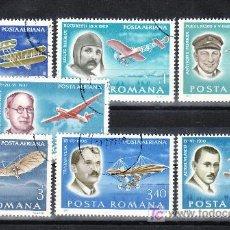 Sellos: RUMANIA A 259/65 USADA, AVION, LOS PIONEROS DE LA AVIACION, . Lote 13912619